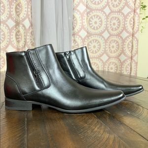 Calvin Klein Beck Chelsea style ankle leather boot